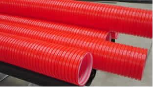 Tuber a coruugado doble capa barra - Tubo corrugado rojo ...
